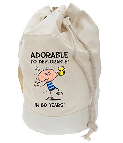 Birthday Deplorable To Duffle Adorable Bag 80th Men's Present Backpack wHnIn7q5