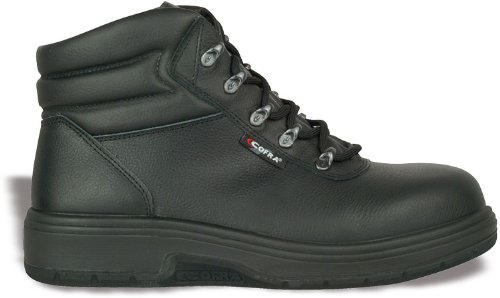 Cofra Sicherheitsstiefel Asphalt S2 P HRO HI Arbeitsstiefel für Asphaltierer, Straßenbau Größe 48, schwarz, 82020-000