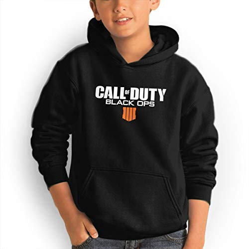 Youth Hoodie Call of Duty Logo 1 100% Cotton Casual Long Sleeve Sweatshirt Pullover with Pockets for Boys and Girls Black