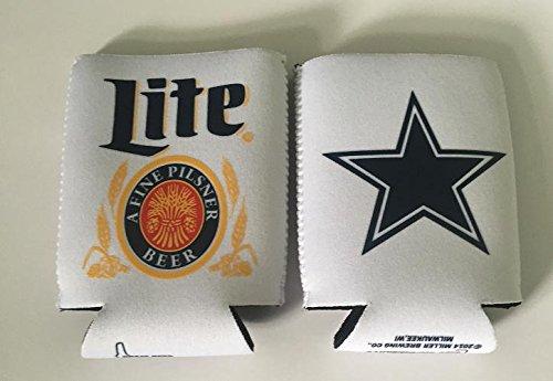 - Miller Lite Texas Cowboys 12oz Beer Can Cooler Holder Kaddy Coolie Huggie Set of 2