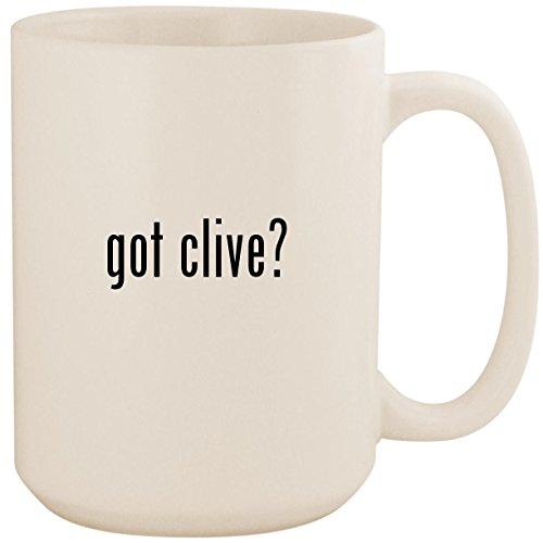 got clive? - White 15oz Ceramic Coffee Mug Cup