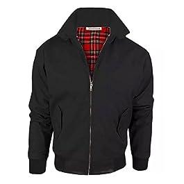 Janisramone New Womens Bomber Zip Up Classic Retro 1970's Vintage Coat Harrington Jacket Top