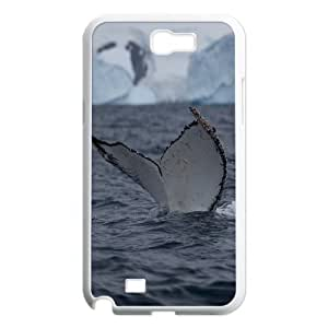 Cases For Samsung Galaxy Note 2, humpback whale tail slaps Cases For Samsung Galaxy Note 2, Tyquin White
