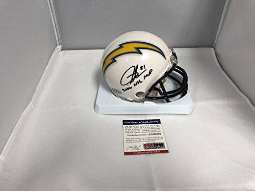 LaDainian Tomlinson Signed Autographed San Diego Chargers Mini Helmet 2006 MVP Inscribed PSA COA & Tomlinson GTSM Hologram