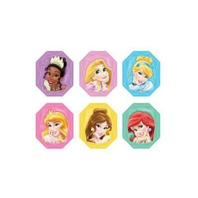 Disney Princess Gemstone Cupcake Rings Party Favors - 24 pcs (Toppers Cake Birthday Disney)