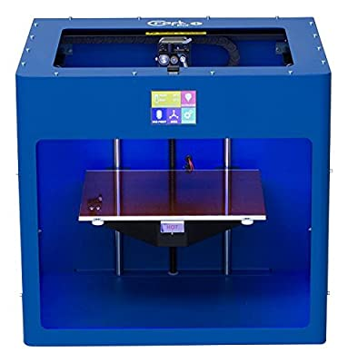 Gentian Blue colored CraftBot PLUS 3D printer.