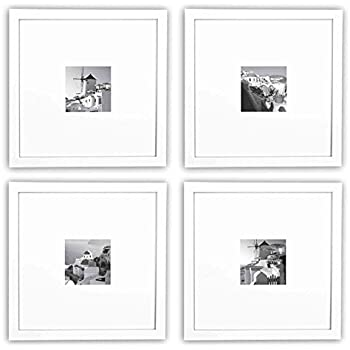 Gallery perfect 9 piece black square photo for Picture hanging template kit