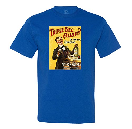 Minty Tees Tripe Sec Allary - Vintage - X-Large Royal Men's Shirt