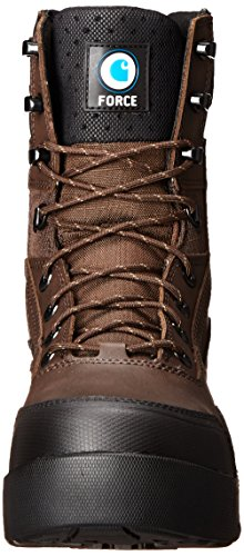 8 Work Leather Men's Carhartt CT BN Force Boot Coated Brown ZPR INS FOZpqA6Z