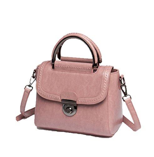 ZM Dames Version Pink En Messenger 2018 Cuir Sac Coréenne Nouveau Sac Cuir En Main Bandoulière Bag Du à Sac à FzFqSrx