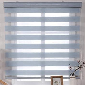 Amazon De Horizontale Holz Fenster Jalousien Leinen Rollo