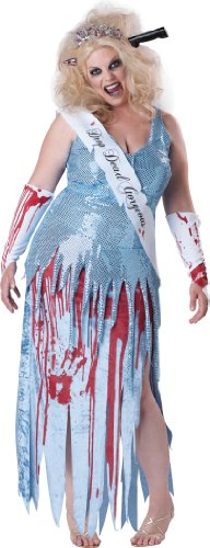 InCharacter Costumes, LLC Plus-Size Drop Dead Gorgeous, Blue/White/Red, 3X-Large (Zombie Costumes Women)