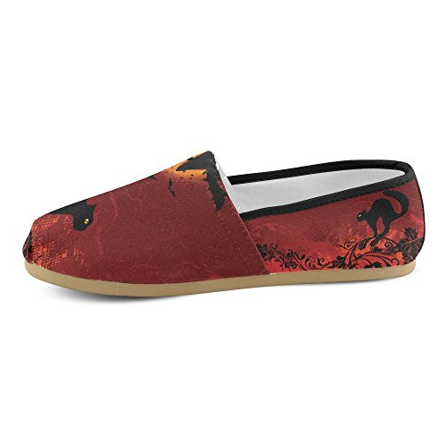 M-story Fashion Sneakers Flats Happy Halloween Pumpkin Womens Classic Slip-on Scarpe Di Tela Mocassini Multi7