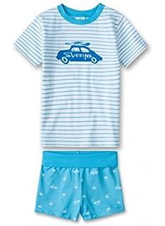 44db86c7a1 Sanetta Jungen Kurzer Schlafanzug 221240 in Türkis (Malibu Blue 50173)
