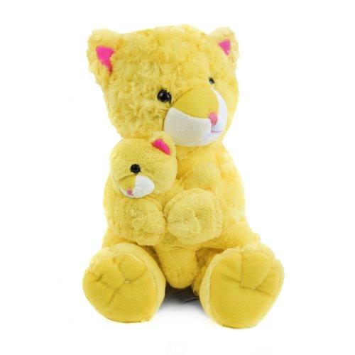 Beverly Hills Teddy Bear Co. Plush Swirl Pet Cat w/ Baby
