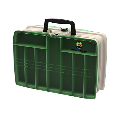 Wakeman Fishing Two Sided Tackle Box – 12 X 9 X 4 Inches