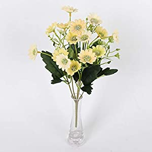Asdomo Artificial Daisy Flowers Bouquets Silk Fake Gerbera Flower Bunch for Wedding Arrangements Home Party Decorations 116