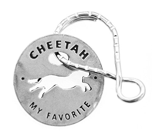 Reversible Cheetah - Cheetah My Favorite Animal Reversible Cutout Token Coin Keyring