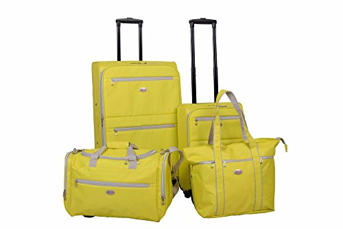 American Flyer Perfect 4 Piece Luggage Set (YELLOW)