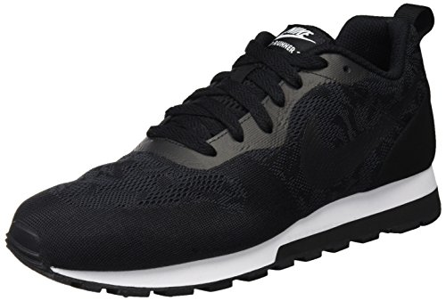 NIKE Womens MD Runner 2 BR Running Shoe Black/Black/White qxyUgjUO2