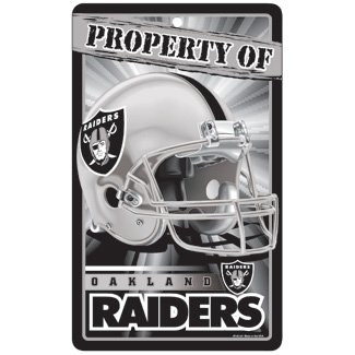 NFL Oakland Raiders Champ/Prop Sign, 7.25 x (Nfl Team Neon Sign)