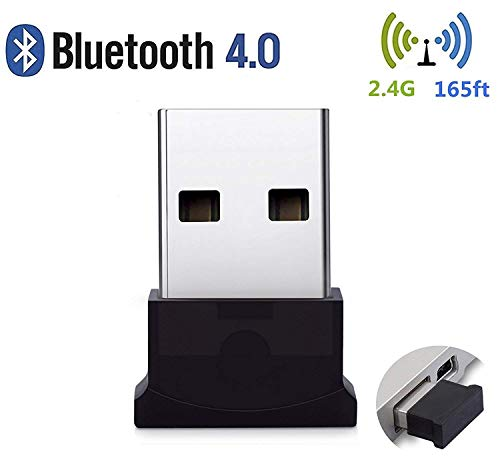 (Bluetooth USB Adapter , Bluetooth 4.0 USB Dongle, Low Energy for PC, Wireless Dongle, for Stereo Music, VOIP, Keyboard, Mouse, Support All Windows 10 8.1 8 7 XP vista)