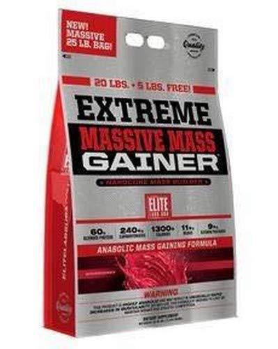 Elite Labs USA Extreme Massive Mass Gainer 25 Pound, Strawberry
