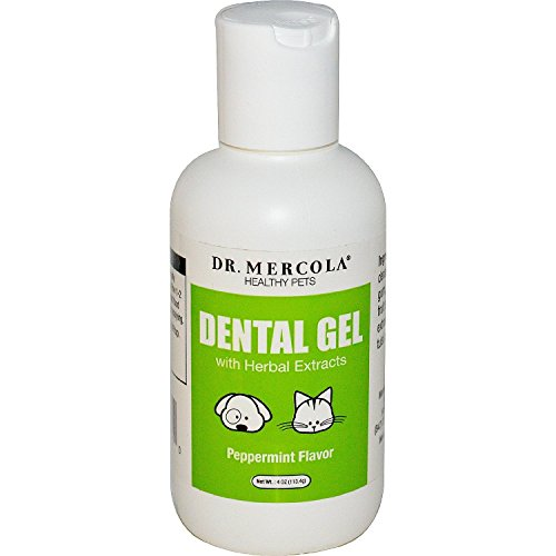 Dr. Mercola Dental Gel for Pets - with Herbal Extracts - Peppermint Flavor - 100% Natural - Plant Based Contains 8 Essential Oils - 4 oz