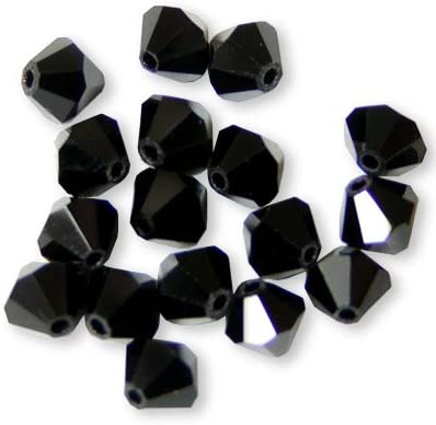 Bicone crystal Beads 4mm Genuine SWAROVSKI    JET