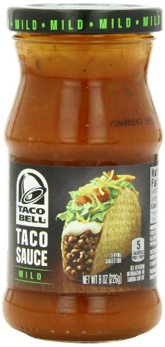 Taco Bell Taco Sauce Jar, Mild, 8 Ounce (Pack of 12)
