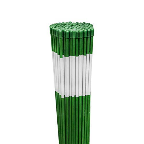 100PK 48″ Long Reflective Driveway Markers Snow Stakes Green 5/16″