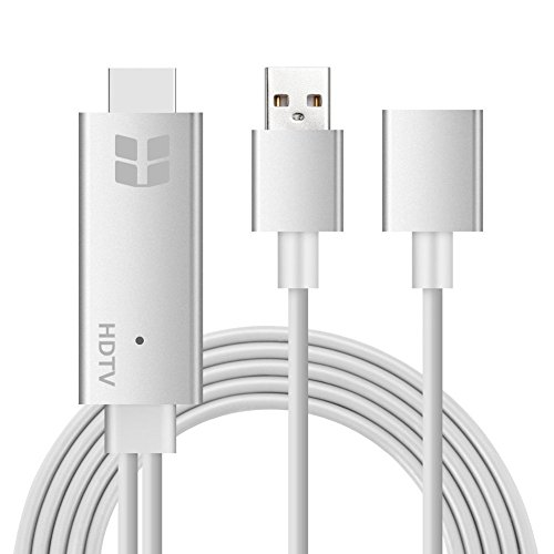Lightning to HDMI Cable Adapter, Bluelasers Lightning MHL to HDMI High-Speed 1080P HDTV Cable for iPhone, iPad, Samsung Smartphones - Plug and Play