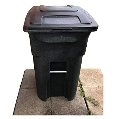 Heavy Duty Trash Can with Lid Wheels Big Tall Waste 31 Gal Commercial Outside Rolling Outdoor Cart & eBook by OISTRIA