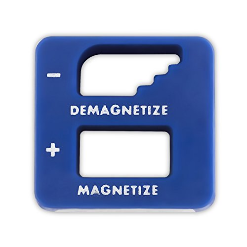 Blue Precision Demagnetizer/Magnetizer - For Screwdrivers, Small Tools, Small and Big Screws, Drills, Drill Bits, Sockets, Nuts, Bolts, Nails And Construction Tools - By Katzco