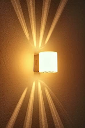 Stylish 40W Wall Lamp With Switch Modern, Warm White Designer Wall ...