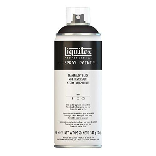 - Liquitex 4450260 Professional Spray Paint 12-oz, Transparent Black