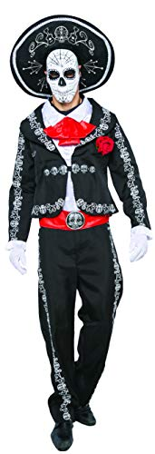 Spooktacular Creations Men's Day of The Dead Costume Adult (Large) -