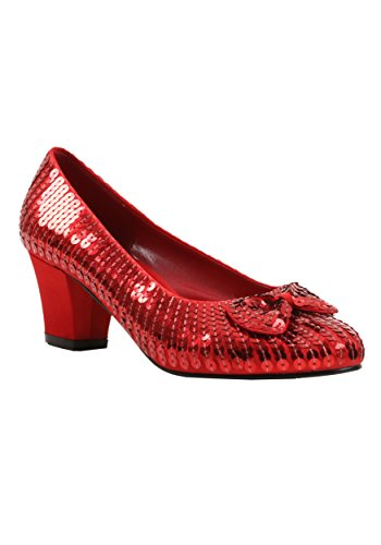 Red Sequin Judy Shoes (Judy Girls Red Sequin 1.5