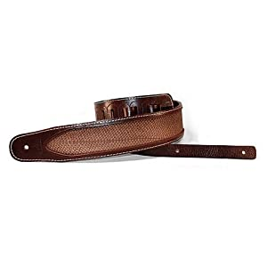 Richter Leder Luxury Rattlesnake Brown – Handgearbeiteter Gitarrengurt