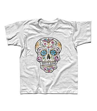 3stylershop Camiseta Niño Calavera Mexicana - Tradicional Tatuaje ...