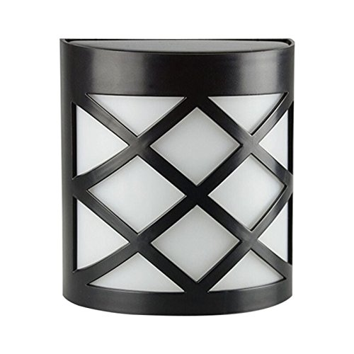Solar Powered LED Wall Light Outdoor,Waterproof Wall Lights Night Lights Lattice Design for Garden,Pathway,Fence,Patio,Deck,Yard Wall,Garage,Landscape,Shed and Lawn Lighting Decoration(1 (Lattice Fence Designs)
