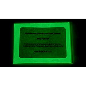 Fluorescent Green Glow in The Dark Pigment Powder – 60g (2 Ounces) – 10+ Colors Available