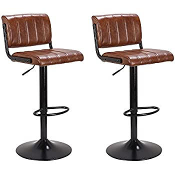 Amazon Com Lch 24 33 Pu Leather Adjustable Bar Stools