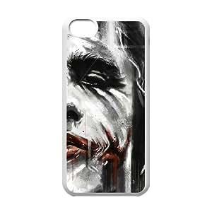 Batman Joker iPhone 5c Cell Phone Case White TPU Phone Case SY_753609