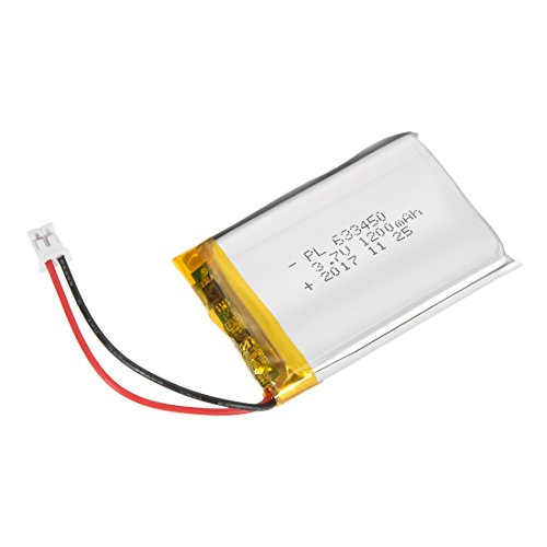 Li Ion Rechargable Battery - uxcell Power Supply DC 3.7V 1200mAh 633450 Li-ion Rechargeable Lithium Polymer Li-Po Battery