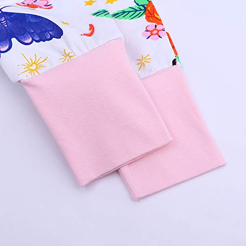 ZFTTZYMX Baby Girls Boys 1Piece Short Sleeve Zipper Romper Baby Cotton Onesies Graphic Pajamas