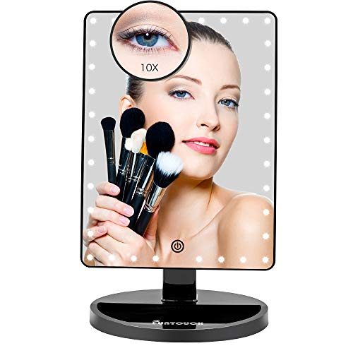 Large Lighted Vanity Makeup Mirror (X-Large Model), Funtouch Light Up Mirror with - Mirrors Led Halo Light Bathroom