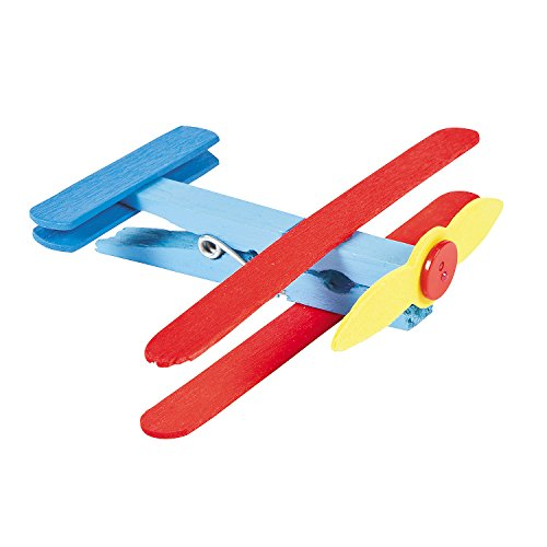Fun Express Clothespin Airplane Craft Kit - Vacation Bible School & Crafts for Kids by
