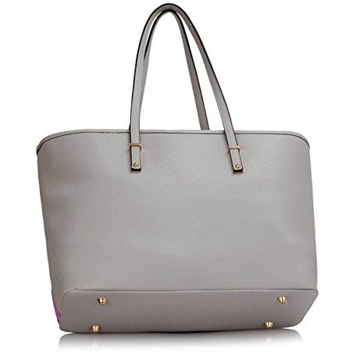 Women Handbag Xardi Floral Ladies Large Designer Tote London Faux Butterfly Shoulder Leather Bag Travel Grey qwStaC