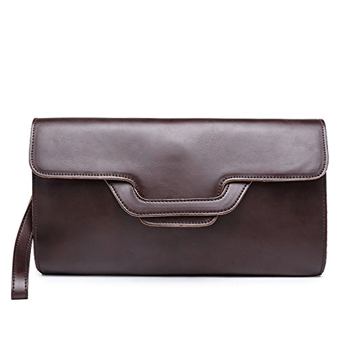 Mefly Captura De Mano Multifuncional Bolsos Casual Para Hombres Brown black